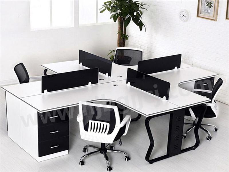 开放式L型员工桌
